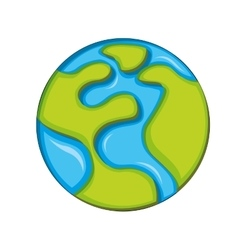 planet globe icon vector image vector image