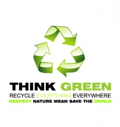 recycle flayer vector image