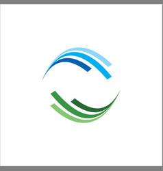round shape circle logo vector image