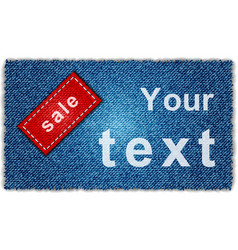 Sale jeans banner vector image vector image