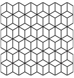 Abstract 3d geometrical seamless pattern backgroun vector