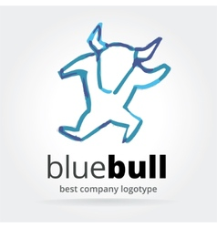Abstract dancing bull logotype isolated on white vector
