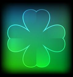 abstract green neon clover vector image