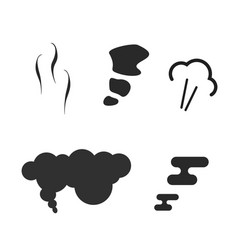 air puff pressure smoke icons set or comic steam vector image