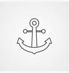 anchor icon sign symbol vector image