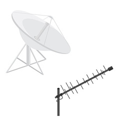 Antenna icon set vector image