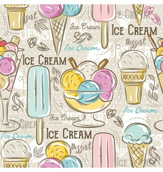 Background with ice cream vector