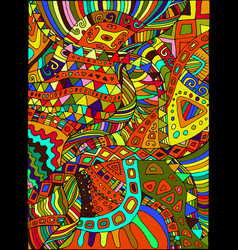 Beautiful decorative psychedelic hippie vector