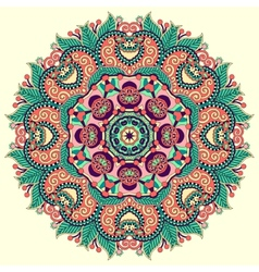 beautiful vintage circular pattern of arabesques vector image