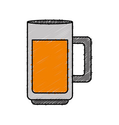 Beer jar icon vector