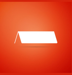 Blank paper table card icon on orange background vector