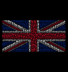 British flag pattern of exclamation sign icons vector