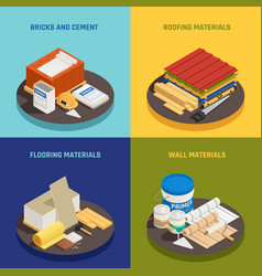 building materials design concept vector image