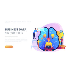 business intelligence concept landing page vector image