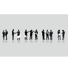 Business people line vector