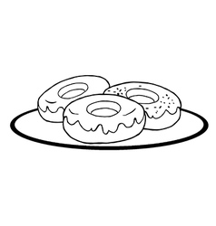 Cartoon donuts vector