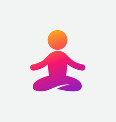Colorful yoga icon instagram gradient vector