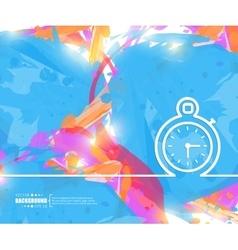 Creative stopwatch Art vector image