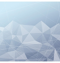 Crystal structured modern blue background vector image