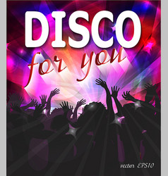 disco party design vector image