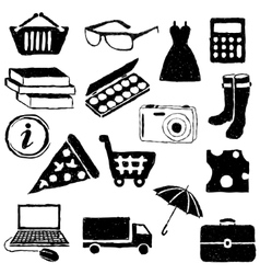 doodle shopping pictures vector image