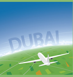 Dubai flight destination vector