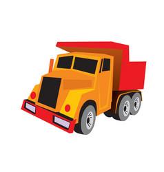 dump truck tip truck construction vehicle vector image