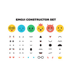 emoji yellow smiley face character for scenes vector image