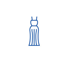 evening gown line icon concept evening gown flat vector image