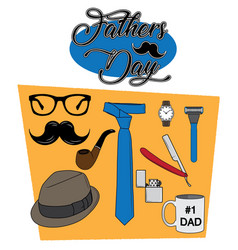 Fathers day set vector