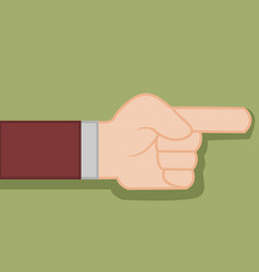 finger direction hand gesture graphic vector image