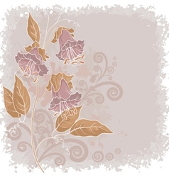 Flowers kobe and abstract pattern vector
