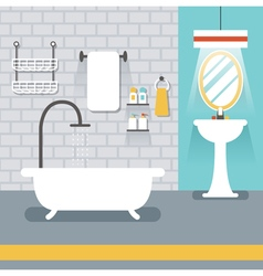 Furniture Display in Room Bathroom vector