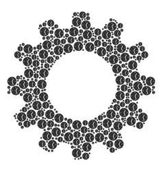 gear mosaic of clock icons vector image