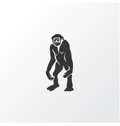 gibbon icon symbol premium quality isolated vector image