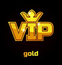 Gold vip symbol set 1 vector