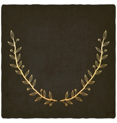 golden branch old background vector image