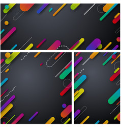 Grey abstract backgrounds with colorful strokes vector