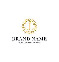 Initial letter j luxury ornament logo design vector