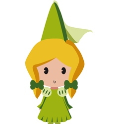isolated princess vector image