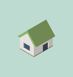 isometric home house icon eps10 vector image