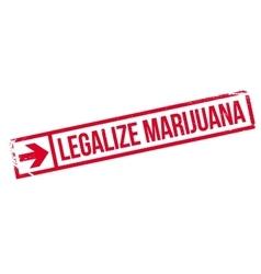 Legalize marijuana stamp vector