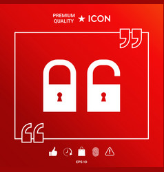 lock unlock - set ico vector image