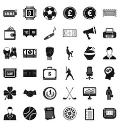 Lottery icons set simple style vector