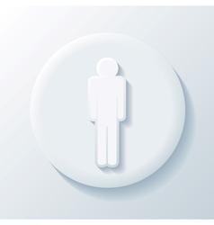 Man 3D Paper Icon vector