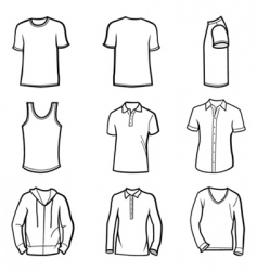 Man clothes vector