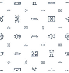 Modern icons pattern seamless white background vector