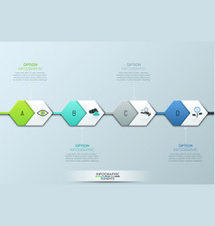 modern infographic design template four vector image
