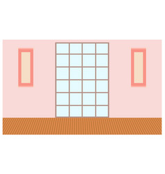 modern narrow high window with transparent glass vector image