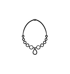 necklace with gem hand drawn sketch icon vector image